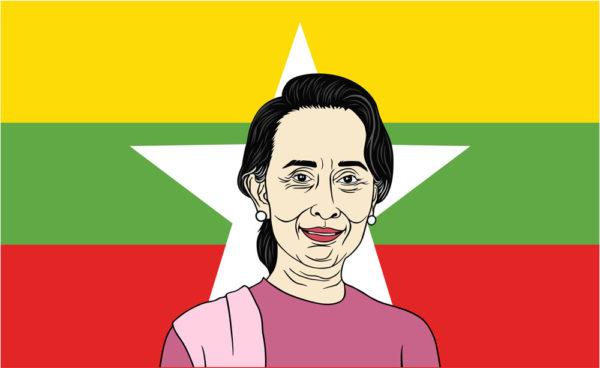 Grafik von Aung San Suu Kyi, Präsidentin von Myanmar (dianpurdi41 / Shutterstock.com)