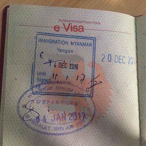 Touristen Visum beantragen für Myanmar & Birma