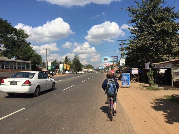 Fahrradfahren in Myanmar