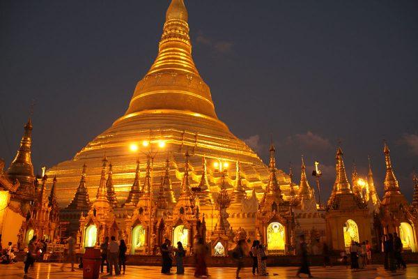 Die Shwedagon-Pagode in Myanmar
