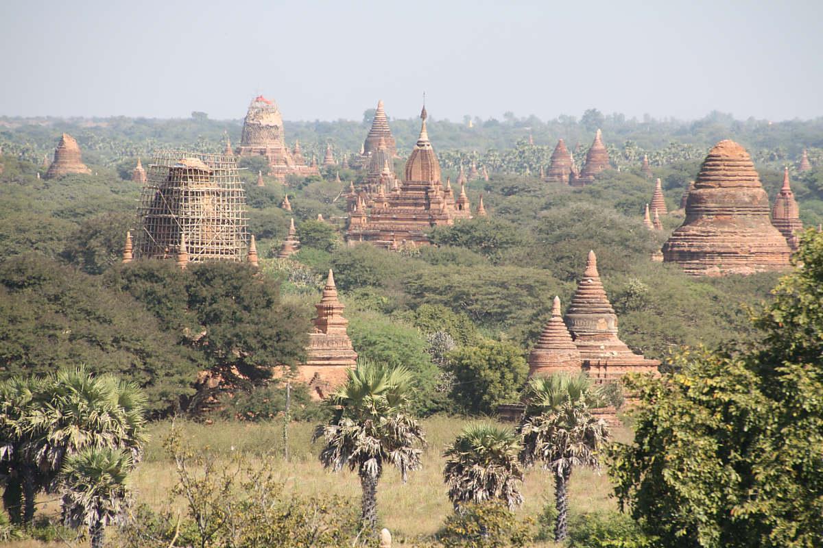 Die meisten Stupas und Pagoden sieht man in Bagan, hier stehen mehr als 1000 im Nationalpark!
