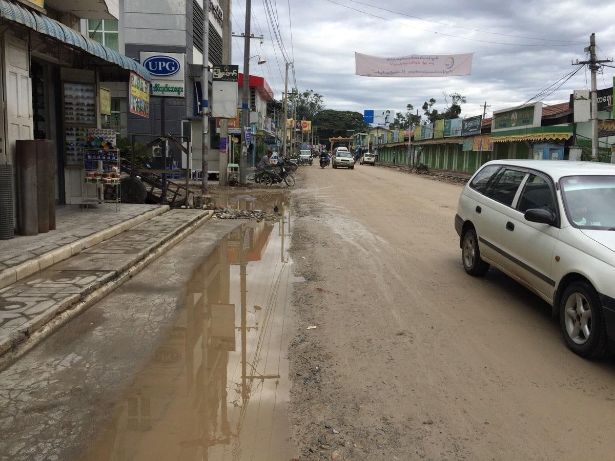 Das Dorf Nyaung Shwe ist Mittelpunkit der Backpackerszene.