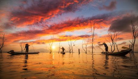 Die Fischer des Inle Lakes.