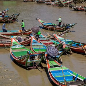 Irrawaddy / Ayeyawady Delta in Myanmar * Burma
