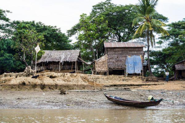 Unterwegs bei einer Boottour im Ayeyarwady Delta.
