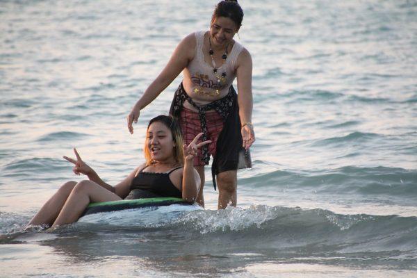"""""""Im Wasser sein"""" - neben Sonnenbaden die häufigsten Aktivität."""