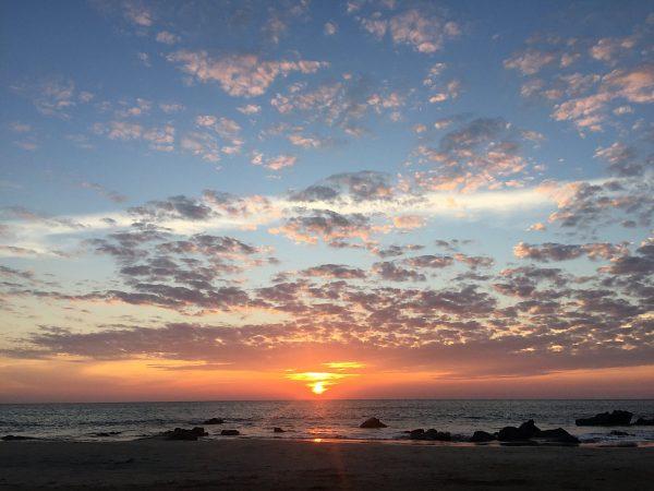 Sonnenuntergang am Ngapapali-beach von Myanmar