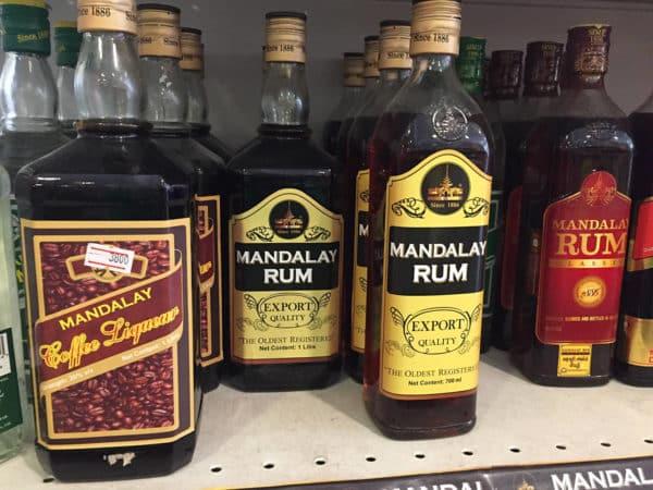 Rum aus Mayanmr - es gibt mehrere Marken!