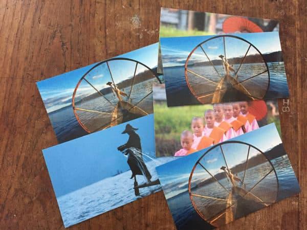 Postkarten aus Myanmar verschicken dauert bis zu 4 Wochen.