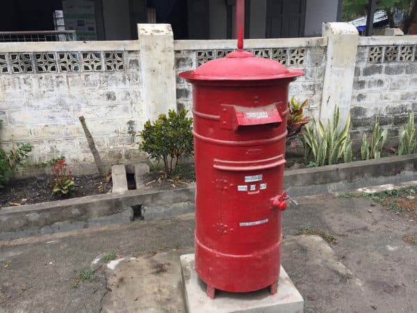 Briefkasten in Myanmar.
