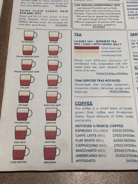 Die Vielfalt von Tee in Myanmar ist enorm!