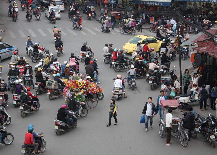 Viel Verkehr in Saigon / Vietnam.