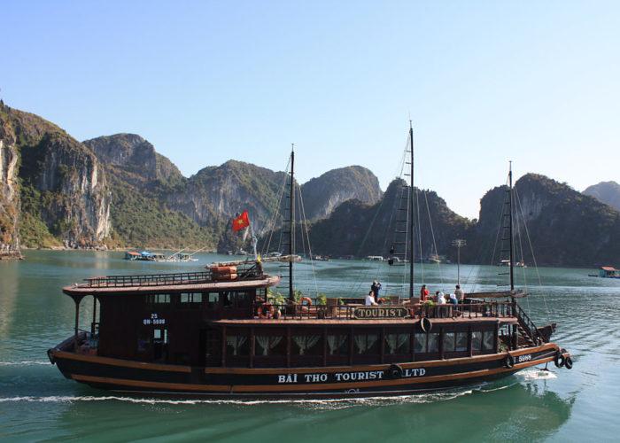 Die Halongbay im Süden von Vietnam.