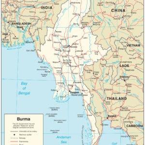 Myanmar Karte * Wo liegt Myanmar / Burma ?