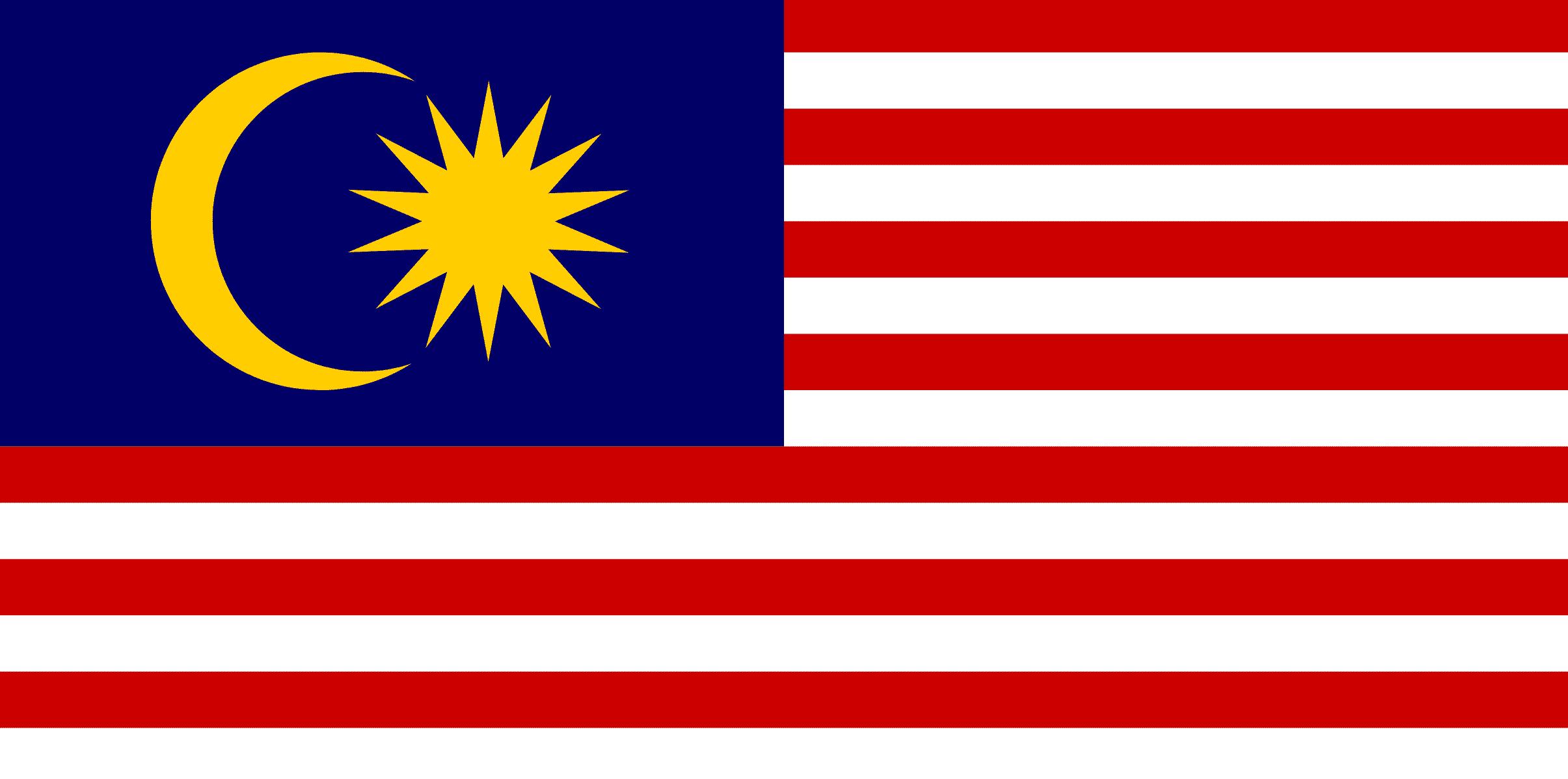 Wie sieht die Fahne von Malaysia aus?