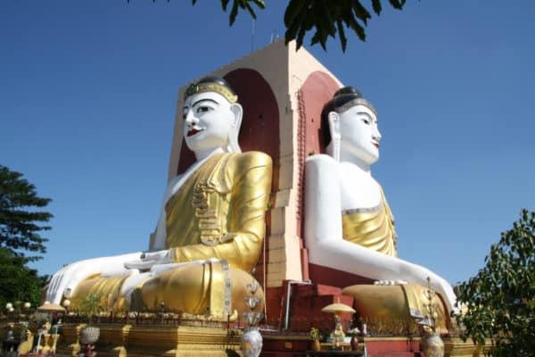 Highlight von Bago: Die vier Buddhas von Kyaikpun sitze genau in die vier Himmelsrichtungen ausgerichtet.