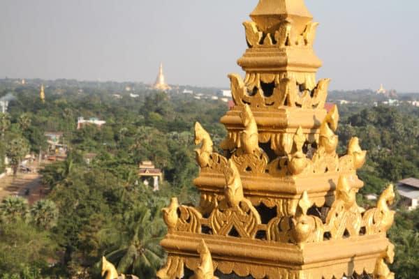 Tolle Aussicht über Bago vom Hintha Gon Paya Tempel