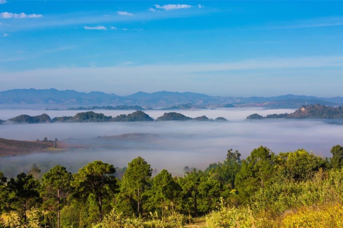 Eine schöne Landschaft wartet auf der Wanderung von Kalaw zum Inle See. (Foto Shutterstock OSTILL is Franck Camhi)