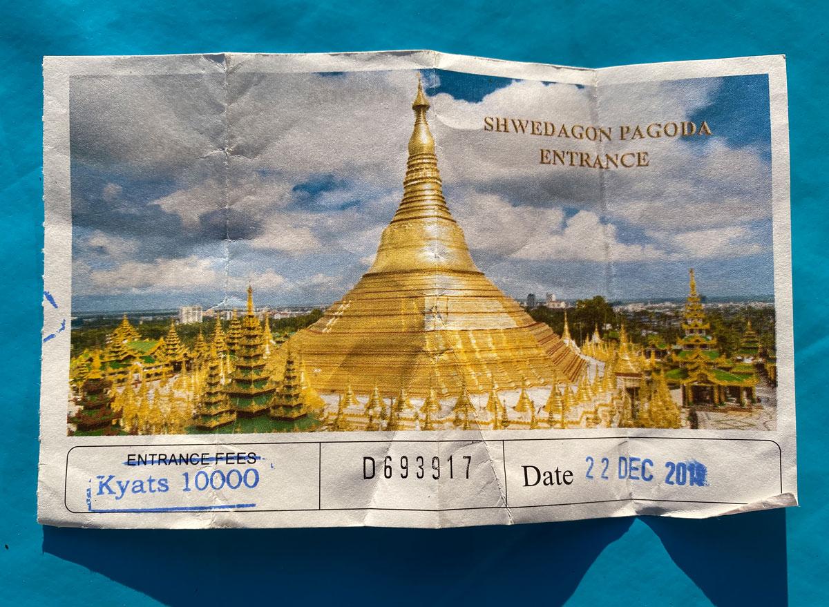 Alle Infos zu den Eintrittskarten und den Öffnungszeiten der Shwedagon Pagode in Yangon.