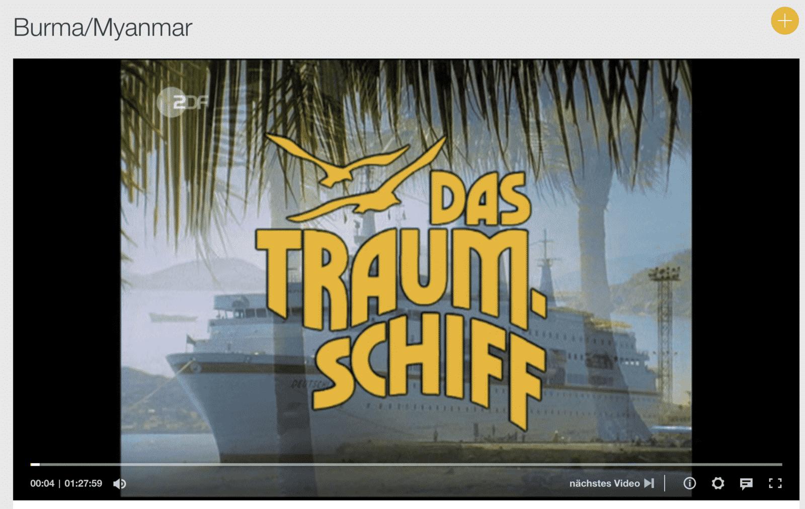 Das Traumschiff Myanmar läuft in der ZDF Mediathek.