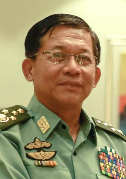General Min Aung Hlaing aus Myanmar